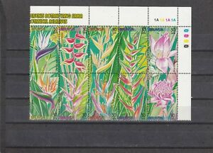 A130 Malaysia Sg814-823 Mnh 1999 Heliconias