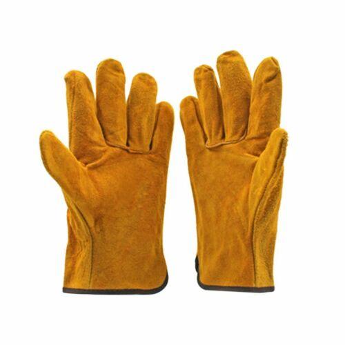Welding Gloves fireproof Anti-heat spark Cowhide Leather Welding TIG Gloves