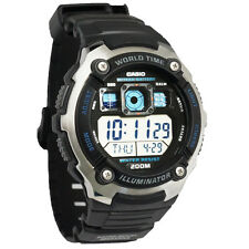 Casio AE-2000W-1AV Mens Multi-Functional Digital Sport Watch Silver-tone & Black