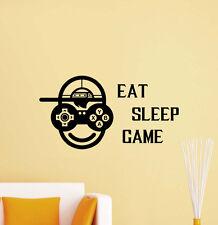 Eat Sleep Game Wall Decal Gaming Video Gamer Vinyl Sticker Poster Decor Art 446