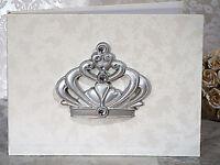 Quinceanera Sweet 15 16 Birthday Princess Royal Crown Guest Book Pen Set