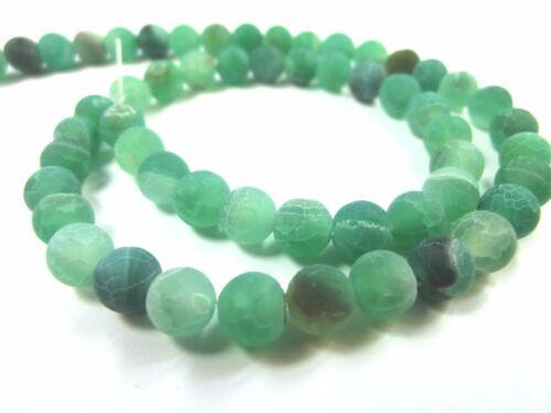 Achat 6mm verde Matt 1 Strang perlas #2