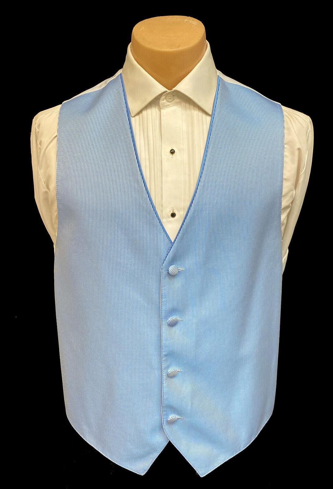 Men's Jean Yves Blue Tuxedo Vest Cruise Formal Wedding Groom Prom Large L