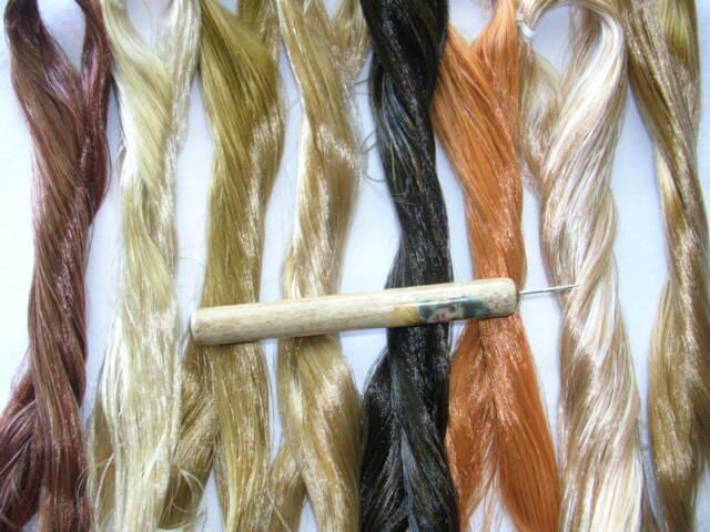 PRO HAIR ROOTING TOOL 4 CHATTY CATHY VINTAGE or OOAK DOLLS + 1 skein Saran