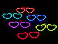 12 Knicklicht Herz-brillen Sets 6-farben-mix Oder Einfarbig