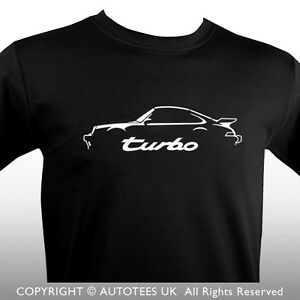 porsche 911 turbo 1980s inspired classic car t shirt ebay. Black Bedroom Furniture Sets. Home Design Ideas