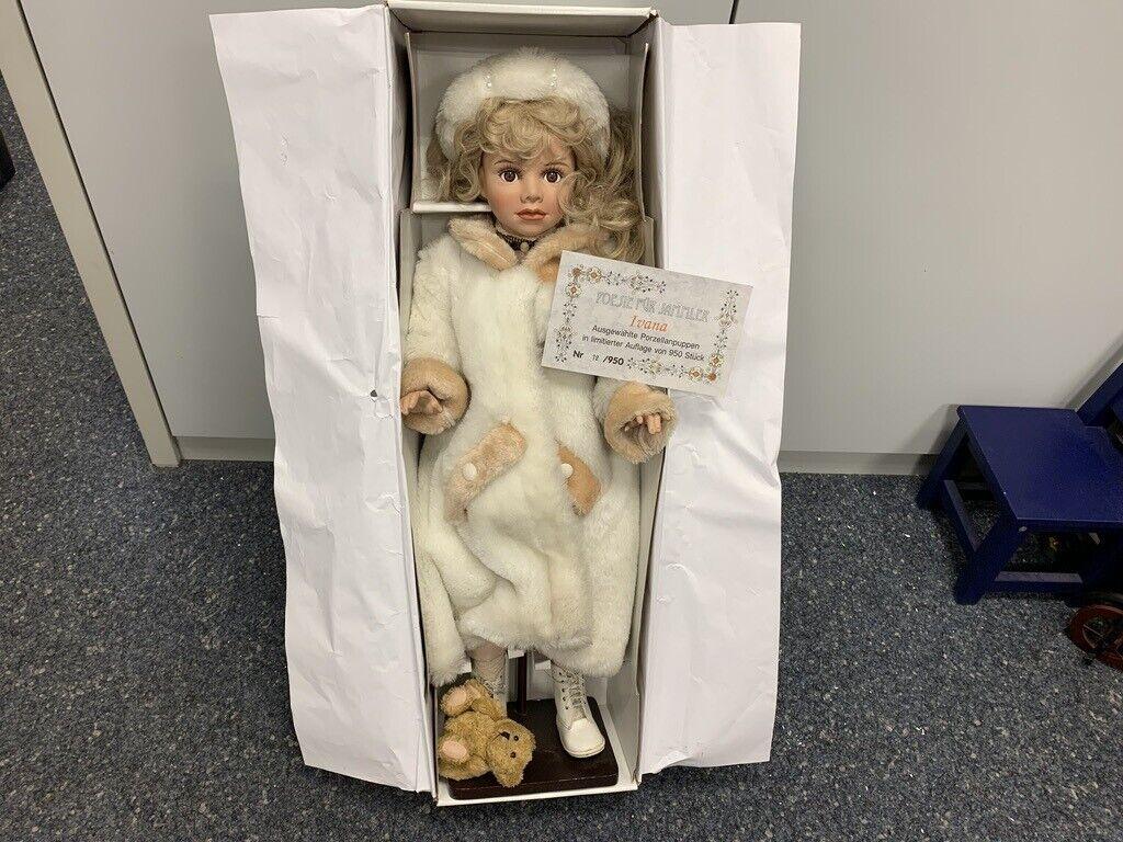 Artistas muñeca muñeca de porcelana 80 cm. top estado