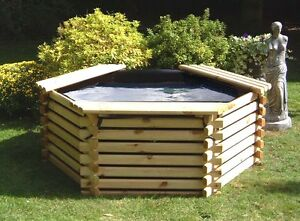 NEW-WOODEN-POOL-175-GALLON-GARDEN-WATER-FEATURE-RAISED-OUTDOOR-FISH-POND