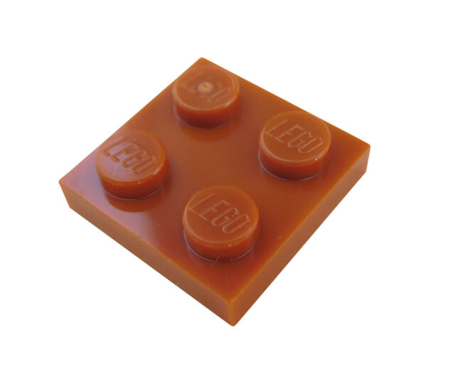 10x LEGO® 3795 2x6 Platte braun reddish brown NEU