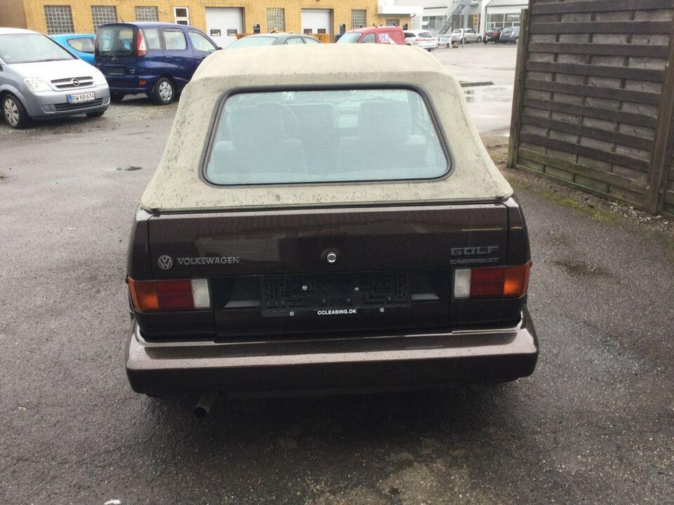 VW Golf I 1,8 GLi Cabriolet Benzin modelår 1988 km 182000