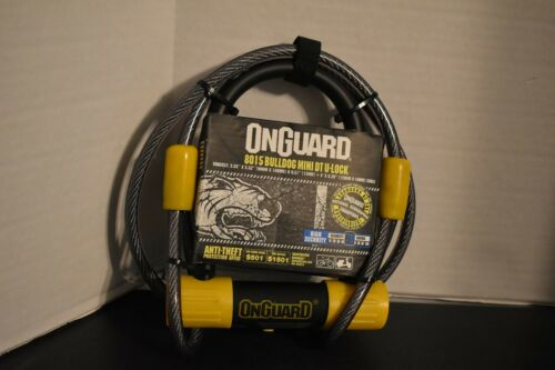 "OnGuard Bulldog Mini DT U-lock /& 4/' Cable 3.55x5.52/"" 8015 NEW"