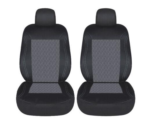 1+1 asiento del coche referencias delanteros fundas de asiento asiento delantero gris rauteprint