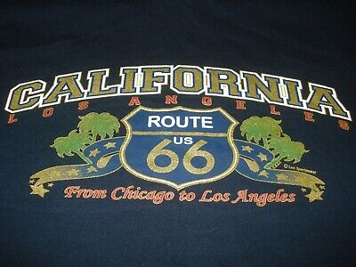 Men/'s Gildan T-Shirt Ideal Birthday Gift or Present Route 66 Sign Distressed