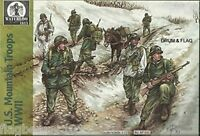 Waterloo 1815 1/72nd Scale U.S. WWII Mountain Troops Plastic Soldiers Set NEW!