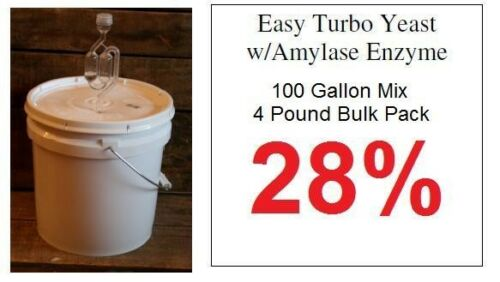 100 Gallon Turbo Yeast Bulk Package Alcohol Whiskey Rum Vodka Moonshine