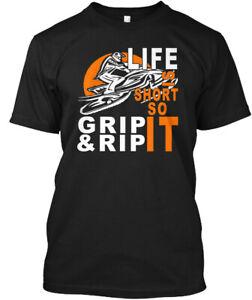Soft-Snowmobiling-grip-rip-It-snowmobile-Life-Is-Hanes-Tagless-Tee-T-Shirt