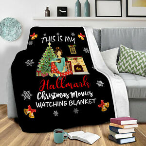 This is Hallmark Christmas Movie Flannel Blankets Throw Soft Sofa Bedding 47inch