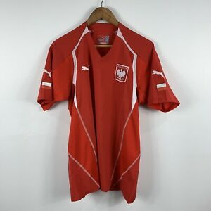 Puma-Poland-Polska-Football-Soccer-Jersey-Mens-Size-Large-Short-Sleeve