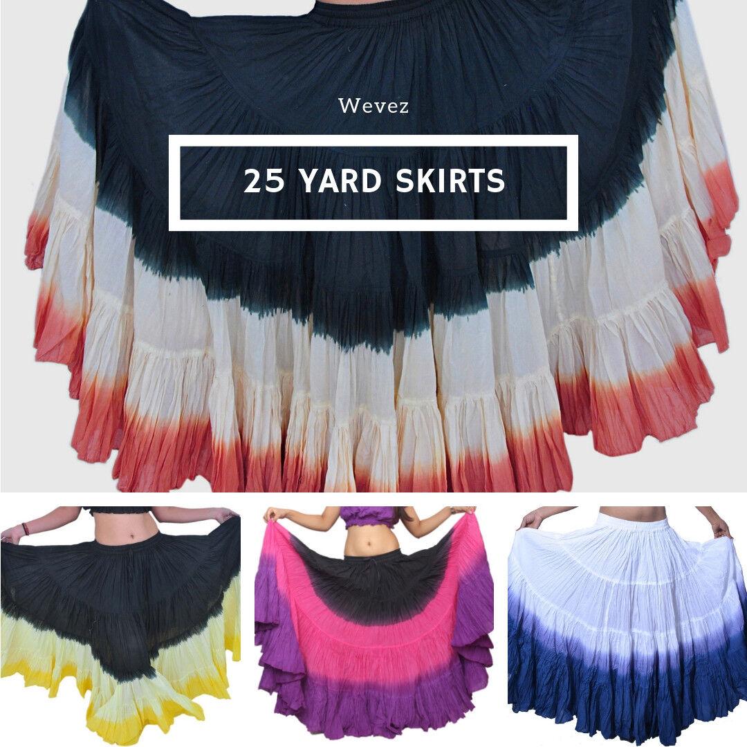 Dip Dye Style 25 Yard Cotton Tribal Skirts North American Salsa Fusion