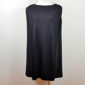 COS-Womens-Black-Silk-detail-Tunic-Top-Size-XS-or-AU-8-US-4