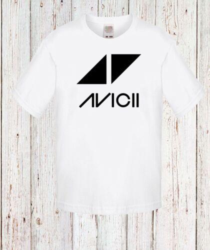 Kid//Bambini//Teenage Avicii 1 White T-shirt Lungo//manica corta