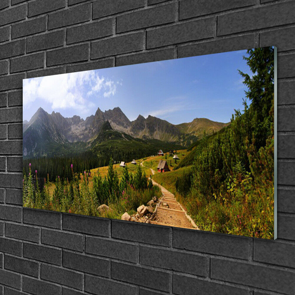 Glass print Wall art 100x50 Image Picture Mountain Forest Nature Nature Nature 82f7ac