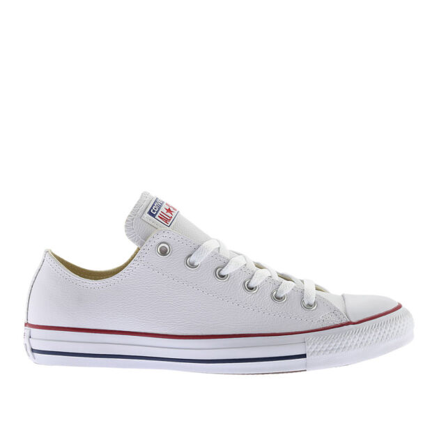 Mens Converse Chuck Taylor All Star Lo Top Leather Fashion Sneaker Optical  White 9e0b85b64