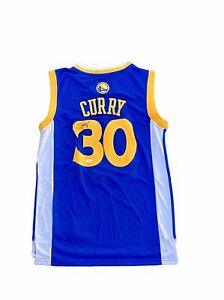 new styles 23d80 fcc11 Details about Stephen Curry Golden State Warriors (Home Blue) Signed Jersey  Jsa Y89870