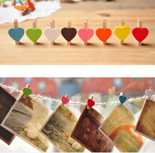 10 Pcs Wooden Mini Clip Wood Pegs Kids Crafts Party Favor Supply