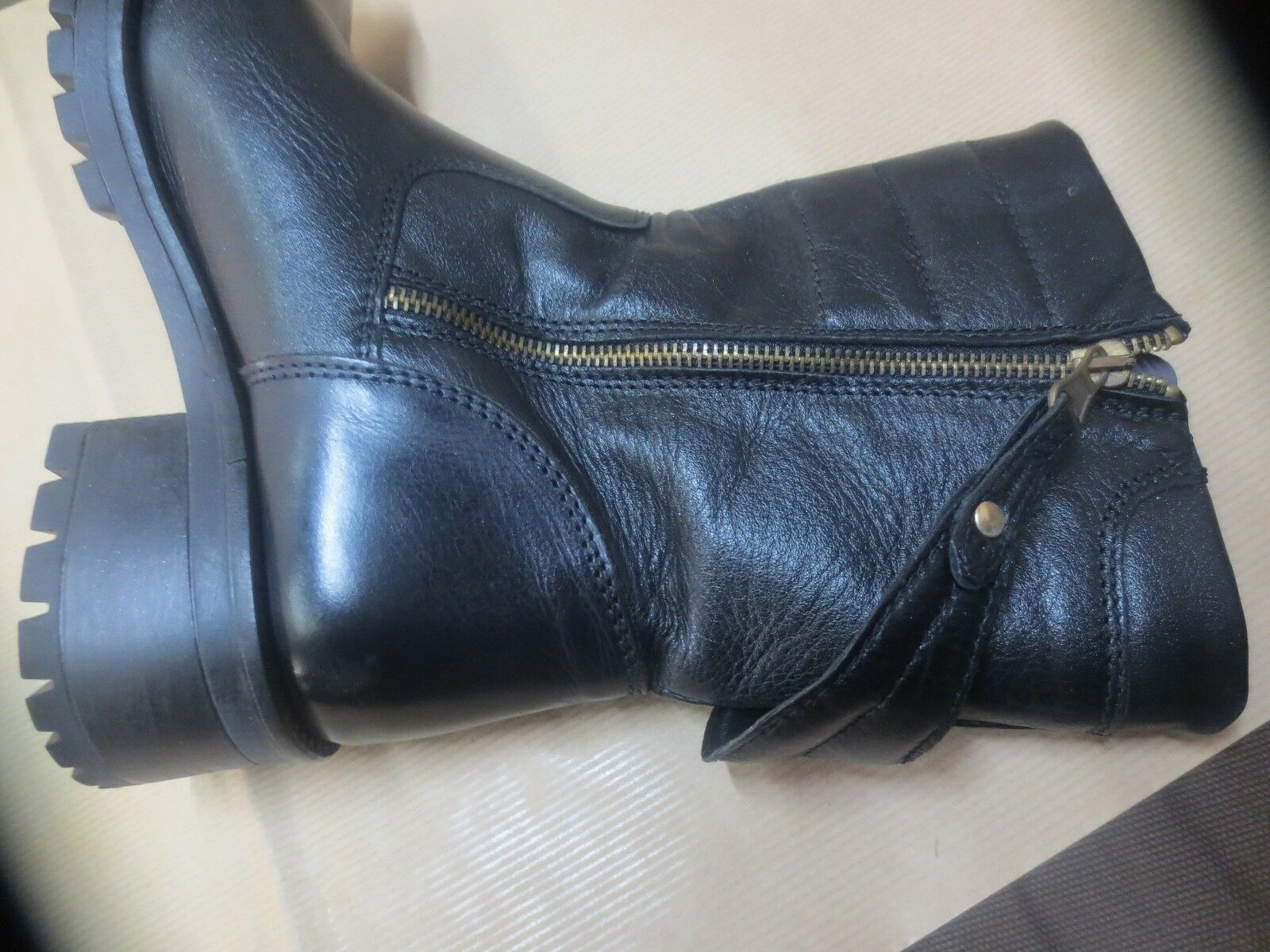 Boots Coffee Coffee Coffee black black leather new value 175E Size 40 109c25