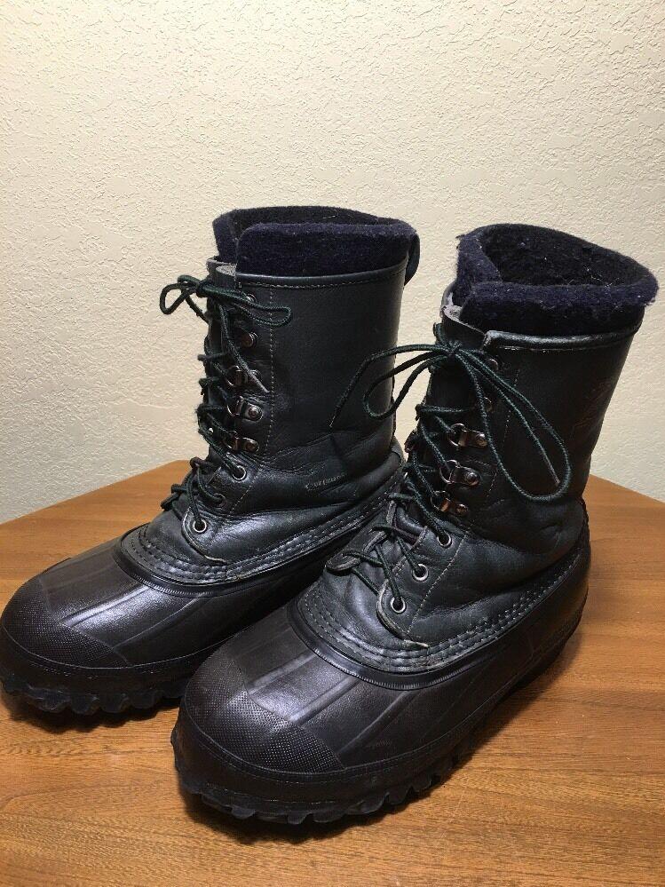 Mens Steel Shank Lacrosse Iceman Work Winter Hunting Boots Size 8 WARM