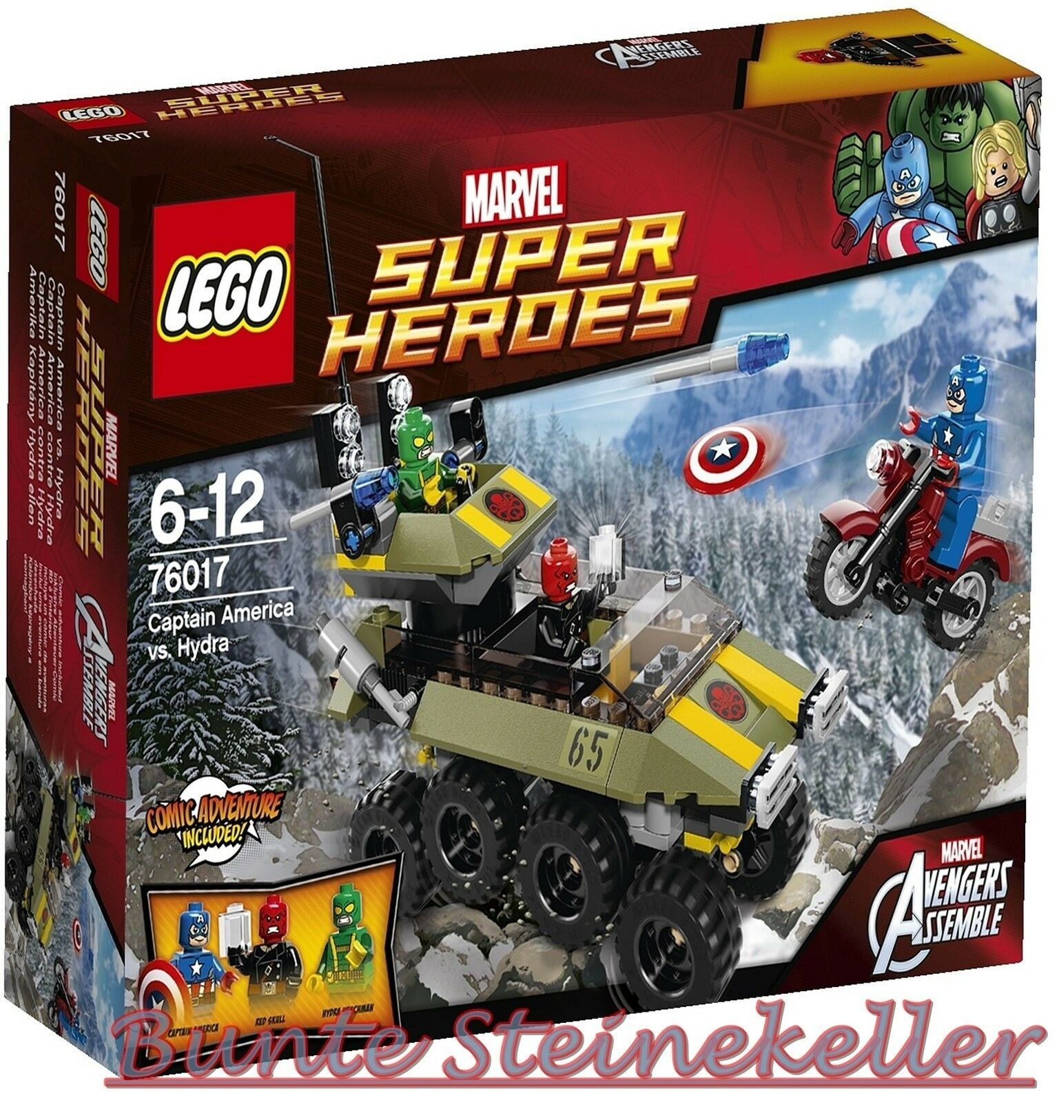LEGO ® super heroes marvel  76017 Capitaine America vs. Hydra & 0. - expédition & nouveau