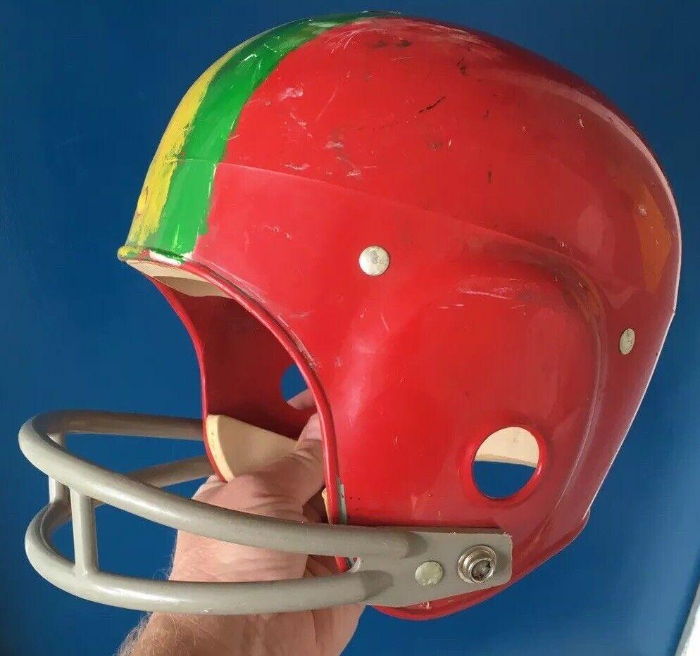 """VINTAGE RAWLINGS TH40 Youth Red Football Helmet Sz M 6 5 8"""" - 6 3 4"""" USA RARE"""