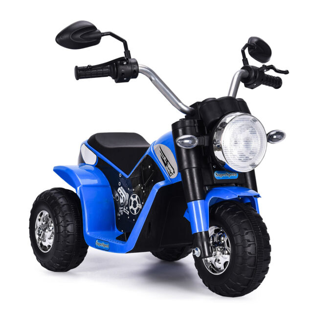 Yamaha Kids Atv >> Kids Ride On Motorcycle 6v Toy Battery Powered Electric 3 Wheel Bicycle Blue