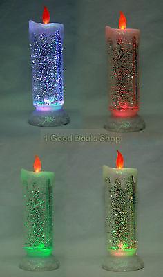 1x Colour Changing Led Candle Flickering Swirling Glitter Flameless Light Het Verstrekken Van Voorzieningen Voor Het Volk; Het Leven Gemakkelijker Maken Voor De Bevolking