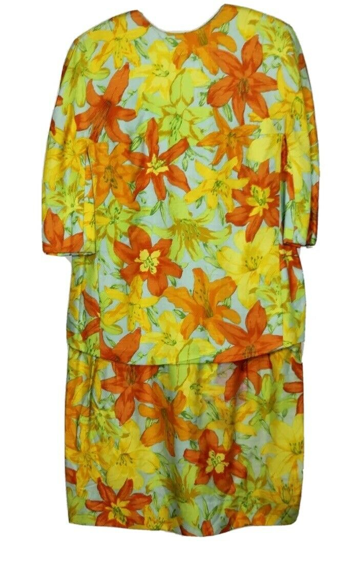 Scaasi Boutique Ruth Roaman Vintage1960s  Bold Fl… - image 1