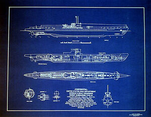 Details about Vintage German UBOAT Type IX WW2 Blueprint Plan 18
