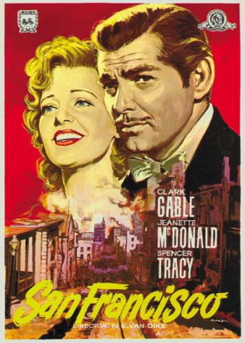 San Francisco Clark Gable Jeanette MacDonald poster #3