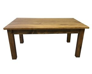Vermont Farm Table (Rustic Harvest Farmhouse Kitchen Dinning Table)