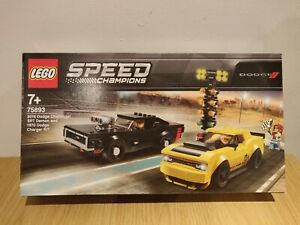 Lego 75893 Speed Champions 2018 Dodge Challenger SRT Demon & 1970 Dodge Charge