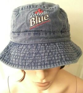fe217d77ddd Labatt Blue Beer Fan Denim Bucket Hat Cap Unisex Canadian Bar Party ...