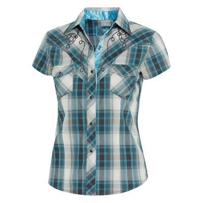 best loved aa2d6 540be Stars & Stripes Western Da Donna Camicia Josie Country ...