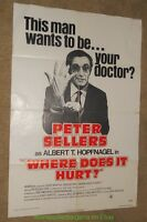 Where Does It Hurt Movie Poster Original R1978 Folded 27x41 Peter Sellers