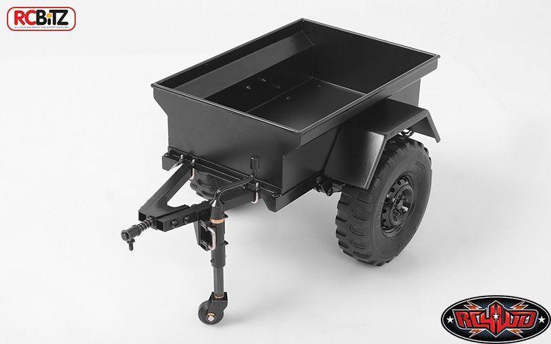 Remolque De Metal Escala 1 10 M416 RC4WD Con Leds rueda Jocky Enganche de bola y Z-H0009