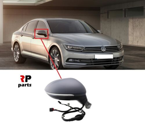 VW PASSAT B8 14-18 WING MIRROR ELECTRIC HEATED PRIMED 8 PIN INDICATOR RIGHT LHD