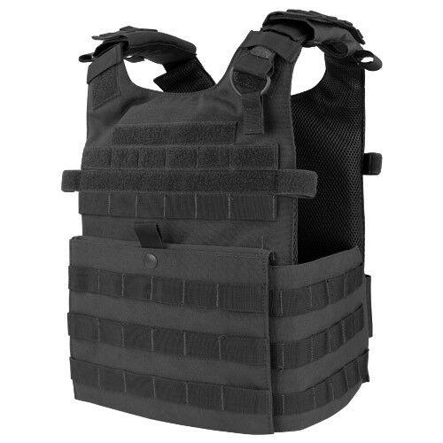 CONDOR GUNNER LIGHTWEIGHT PLATE CARRIER TACTICAL POLICE MOLLE GAME VEST BLACK