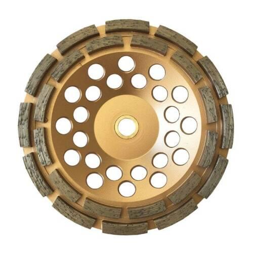 "7/"" Concrete Grinding Cup Wheels 24 Diamond Abrasive Seg 7//8-5//8/"" Double Row"