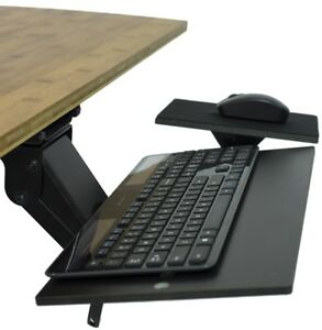 KT1 Adjustable Tilt Swivel Sliding Ergonomic Under Desk Computer Keyboard Tray