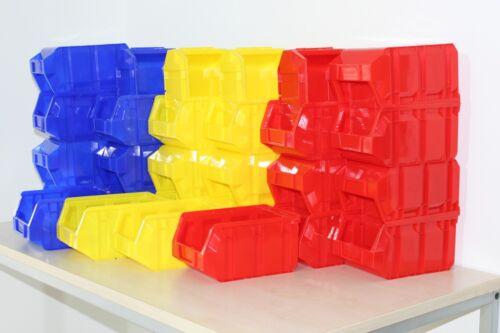 76x Profi-Sichtlagerbox Größe 3 Farbwahl Stapelboxen Lagerboxen 237x144x123 mm