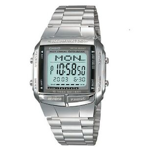 Casio-DB-360-1A-Telememo-Stainless-Steel-Digital-Watch-with-box-Included
